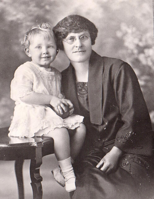 Agnes Francis Curran [nee Gribble] with granddaughter