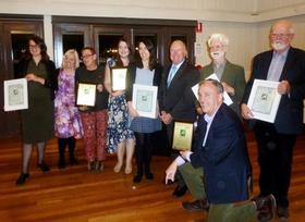 National Trust (ACT) Heritage Awards 2018. The Award winners with Minister Gentleman