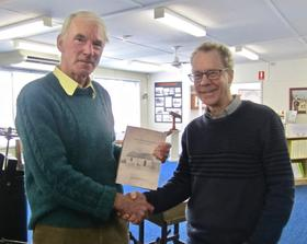 Alastair Crombie and author James McDonald