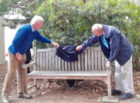 Our photo show Alastair Crombie and John Wiseman unveiling the plaque [Judy Roberts]