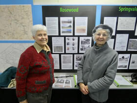 Helen (left) and Marion Warman at the 'Selected Spaces' exhibition