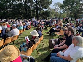 A section of the audience for 'Brass on the Grass'