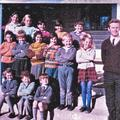 The Mullion pupils and teacher, Ken Moxham, c1971