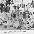 Williamsdale teacher and pupils
